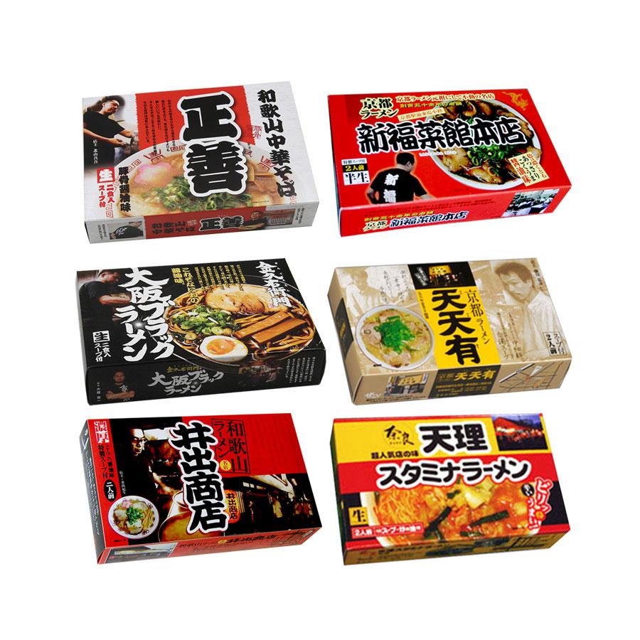 関西の厳選 ご当地ラーメンセット 6店舗24食セット