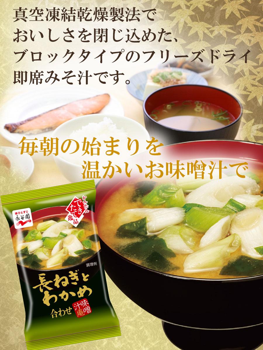 永谷園 フリーズドライ 味噌汁 長ねぎとわかめ 8g 合わせ