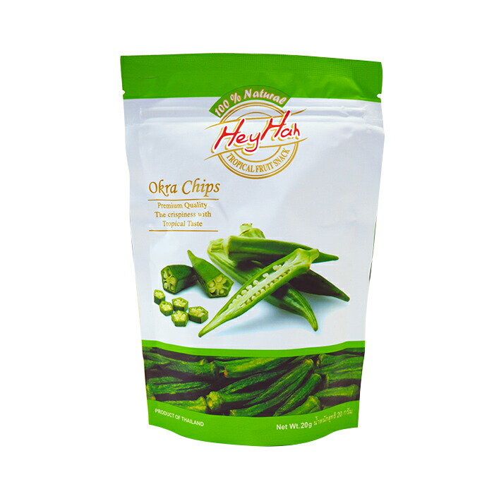 VF オクラチップ20g 塩味 100%Natural 化学調味料無添加 砂糖不使用