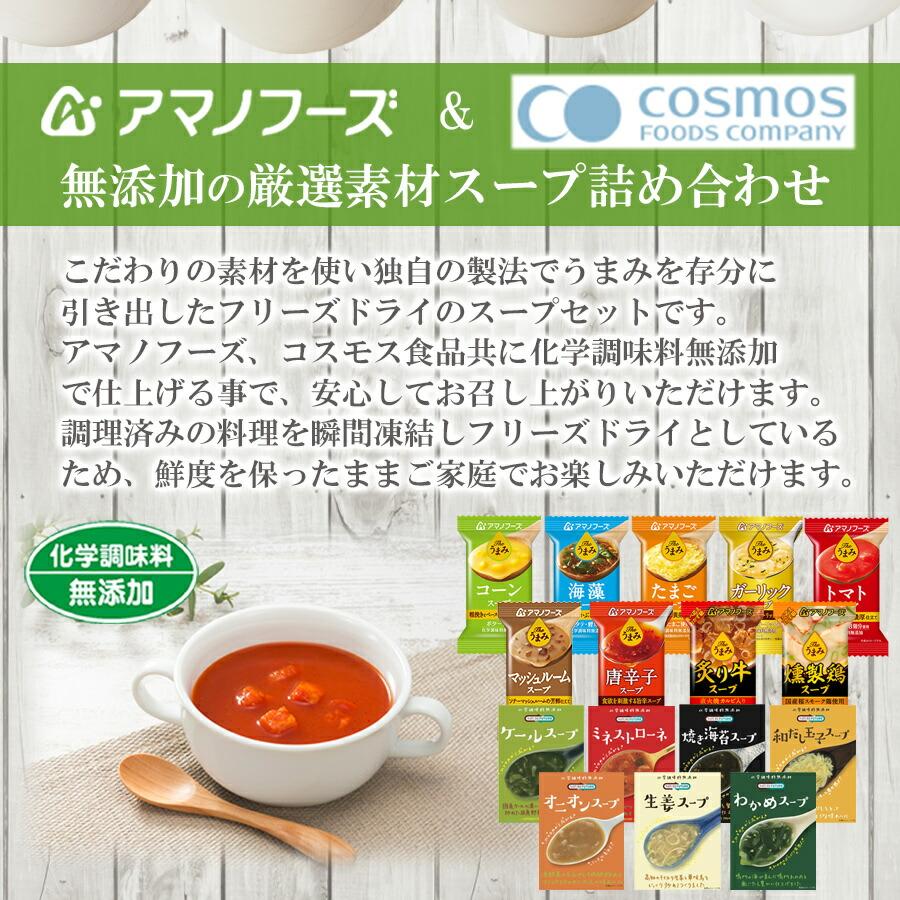 フリーズドライ 無添加 スープ 16種類32食セット 詰め合わせ
