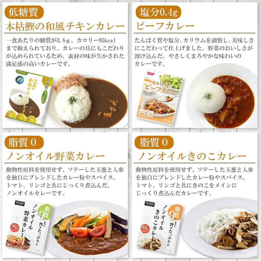カラダ思いのレトルトカレー 4種類8食 お試しセット
