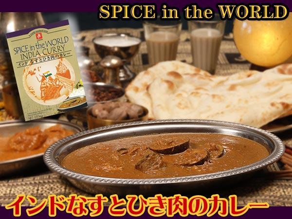インドなすとひき肉のカレー