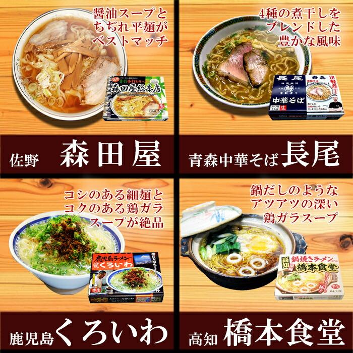 4食入りおすすめラーメン5種20食セット