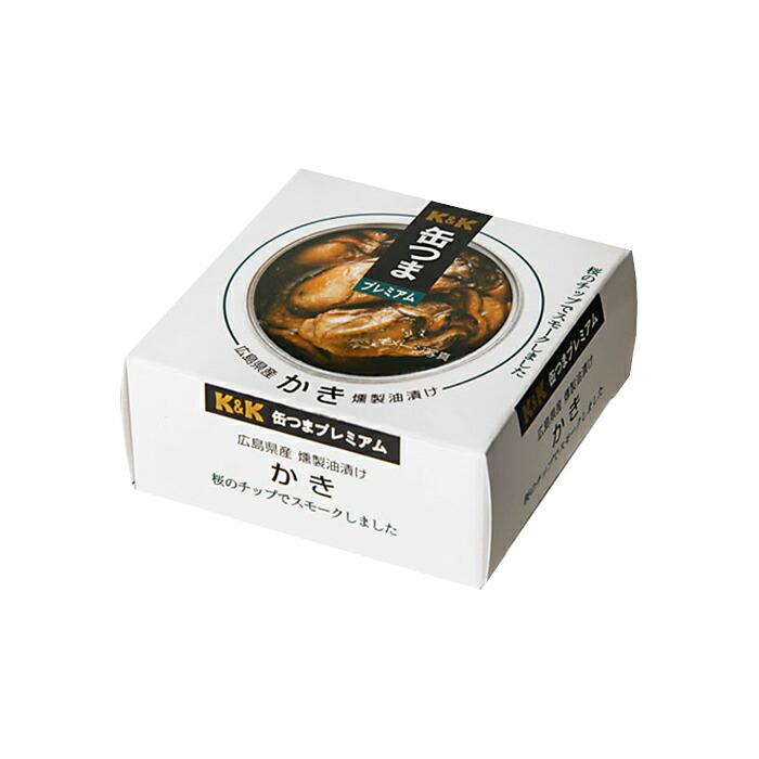 缶つま 缶詰め プレミアム 広島産かき燻製油漬け60g