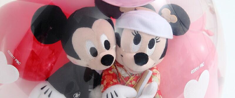 ミッキー&ミニーのウェディング バルーンラッピング♪