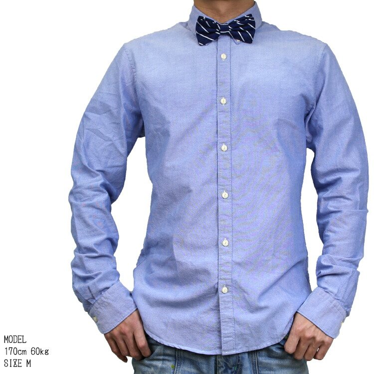 SCOTCH&SODA/スコッチアンドソーダ/シャツ/長袖シャツ/ボウタイ付き/ブルー/着用