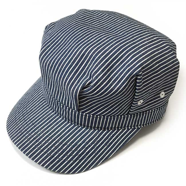 レイルロード キャップ PENNANT BANNERS ペナントバナーズ ネイビー ホワイト ストライプ ブルー デニム ヒッコリー 無地 CAP 帽子 ワークキャップ アメカジ カジュアル かわいい かっこいい メンズ レディース 男女兼用 コットン 綿100% セレクトショップ