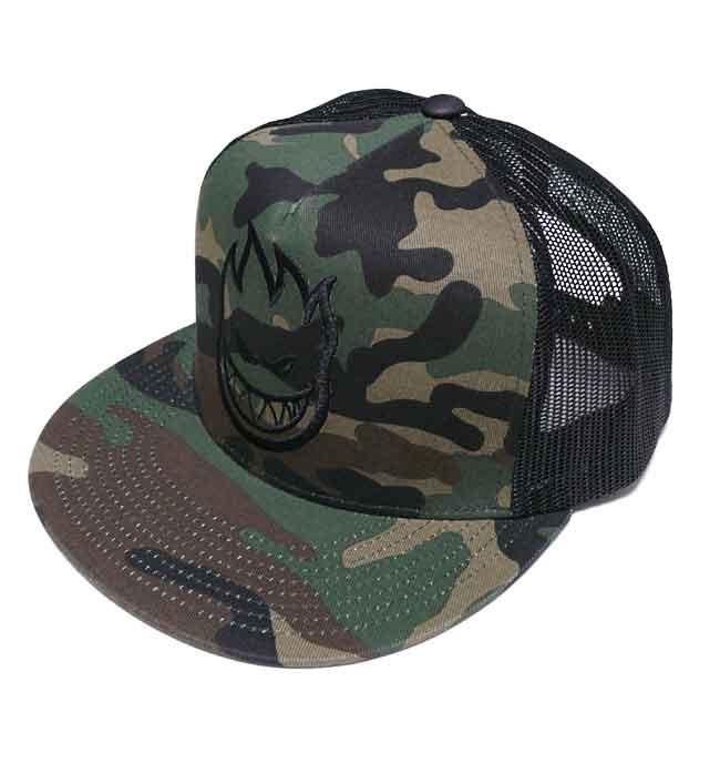 SPIT FIRE BIGHEAD TRUCKER CAP 迷彩 スピットファイヤー メッシュ キャップ カモフラージュ スケーター ロゴ 刺繍 帽子  ユニ d7035131d6bf