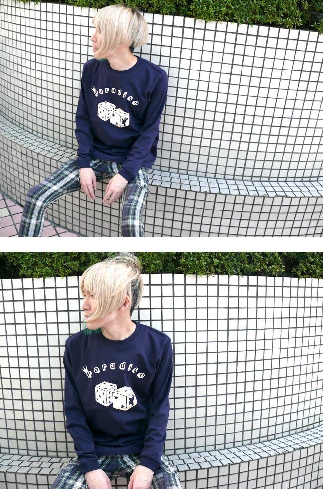 Paradise パラダイス ロングスリーブ Tシャツ BPGT バンビ グラフィックTシャツ ロンT 長袖 サイコロ 子鹿 bambi ロゴTシャツ ポップ オリジナル メンズ レディース ユニセックス