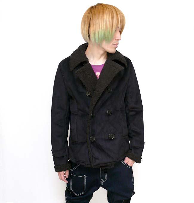 フェイク ムートン Pコート Beno ビーノ ピーコート 防寒アウター ミリタリーブルゾン モード カジュアル メンズ ファッション men's