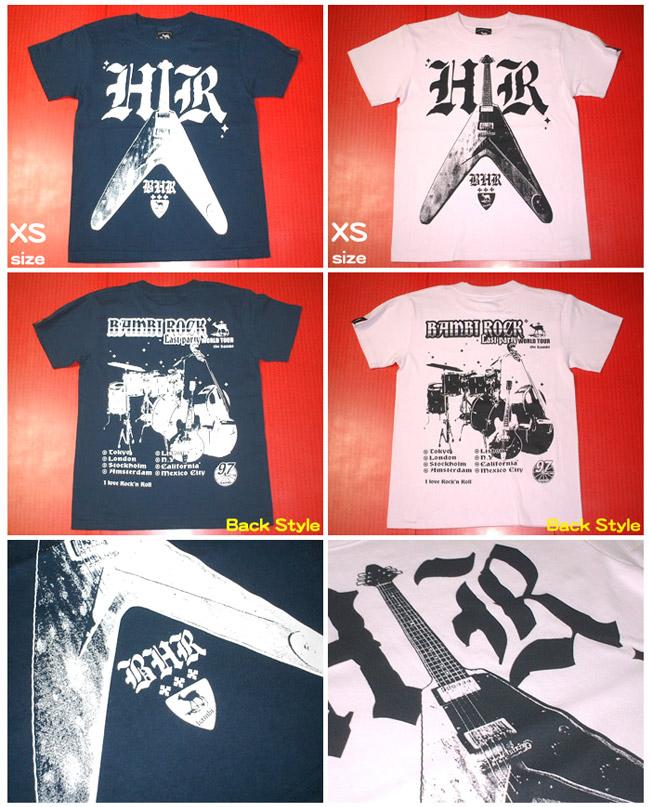Bambi Hard Rock Tシャツ BPGT バンビプラネットグラフィックTシャツ ROCK ロックTシャツ ギター Guitar Flying V バンドT オリジナルT 半袖