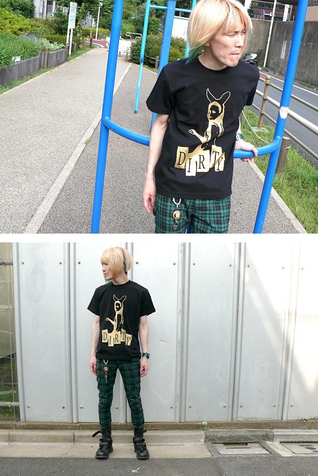 DIRTY ダーティー Tシャツ BPGT バンビプラネットグラフィックTシャツ ロック ロックTシャツ パンク パンクファッション バンドTシャツ オリジナル 半袖 メンズ レディース ユニセックス