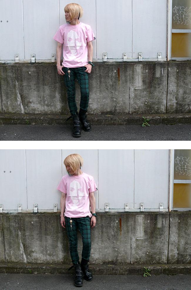 グラフィック graphic Punk フォトTシャツ ピンク スミ オリジナルTシャツ 半袖 メンズ レディース ユニセックス ファッション