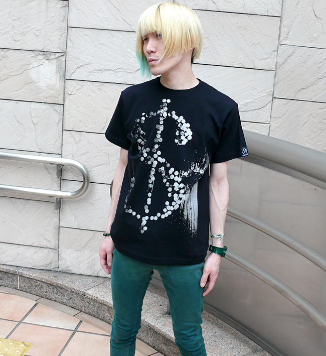HIKARI Tシャツ 半袖 パンクTシャツ ロックTシャツ パンクロックファッション コンセプトデザイン オリジナル メンズ レディース ユニセックス 大きいサイズ かっこいい ブラック 黒色 Tシャツ屋さんバンビ  XXS XS S M Lサイズ