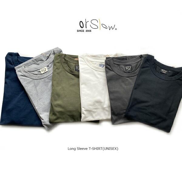 orslow(オアスロウ)Long Sleeve  T-SHIRT(UNISEX)【03-0013】