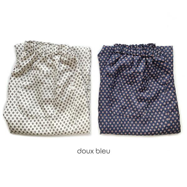 doux bleu (ドゥーブルー)サテンジャガードギャザーパンツ