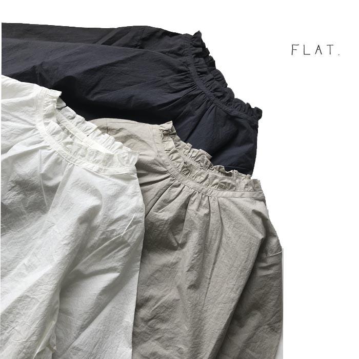 FLAT.【フラット】フリルスモックブラウス【FL-1801】