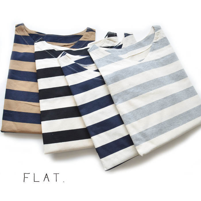 FLAT.(フラット)カヴェール天竺ボーダーワイドPO【FL-1805】