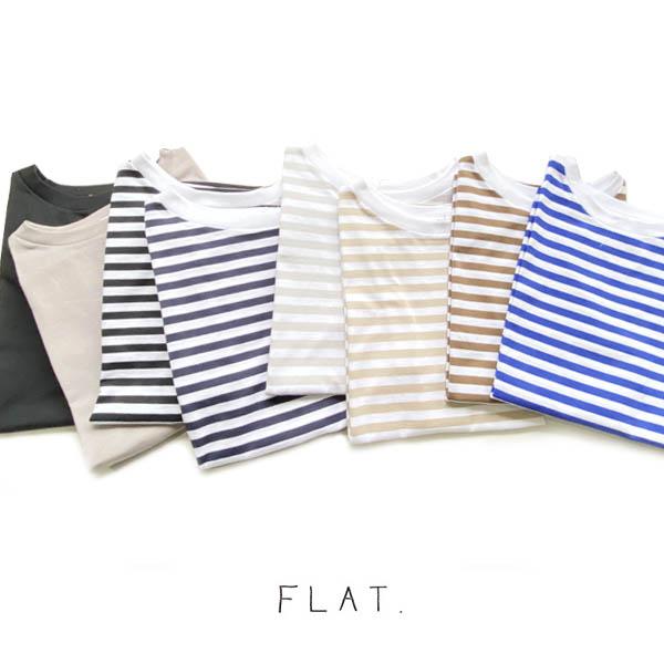 FLAT.(フラット)天竺ワイドプルオーバー【FL-1902】
