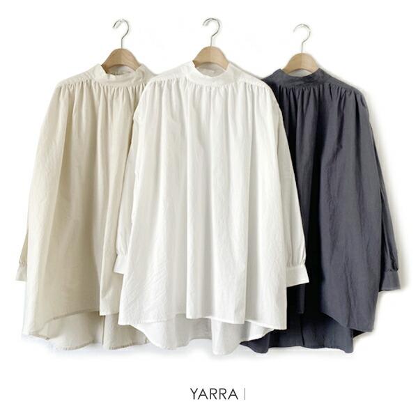 YARRA(ヤラ)2WAYバック釦スタンドチュニック【YR-205-064】