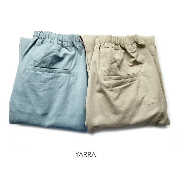 YARRA(ヤラ)フロントタックコットンパンツ
