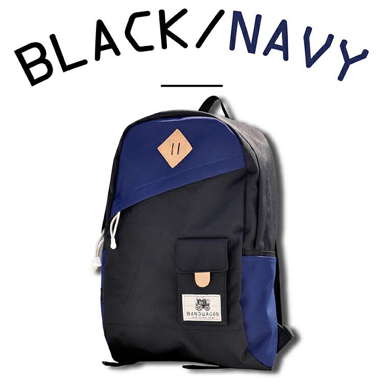 2TONEBACKPACKカラーバリエーション BLACK&NAVYブラック&ネイビー