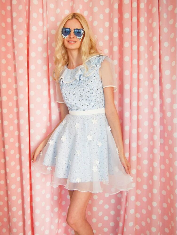 c751af1306e7d 楽天市場 花柄ワンピース 可愛い ドレス ガーリーファッション ...