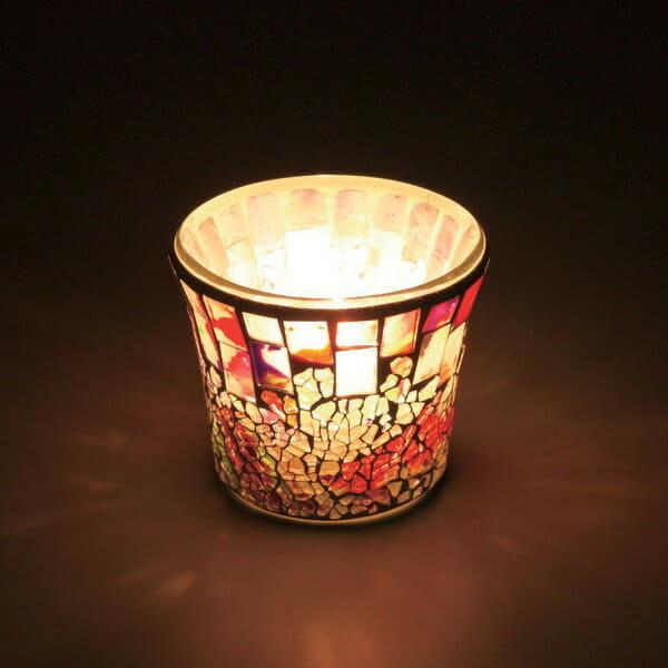 キャンドルグラス「キャンドルワールド(CandleWorld)」モザイクカップ