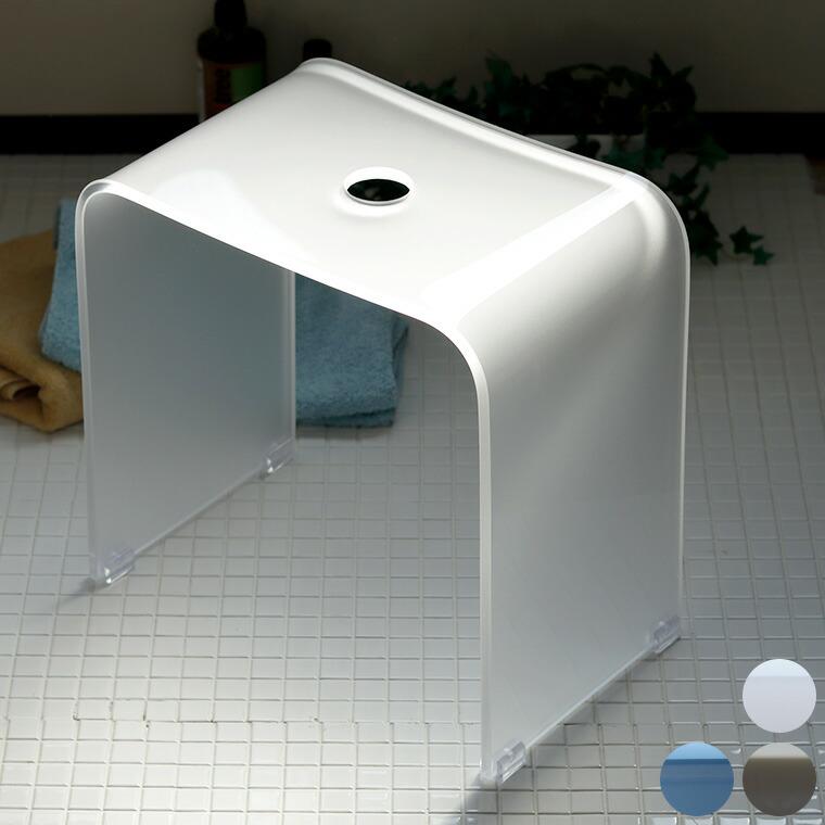 【送料無料】アクリルバスチェア「Foschia(フォスキア)」風呂イス(40型)