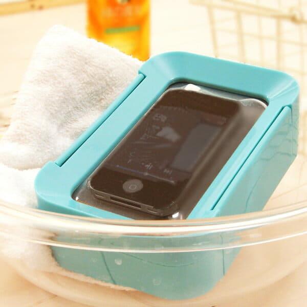 iPod・iPhone対応/防滴スピーカー「アクアタッチ」ブルー