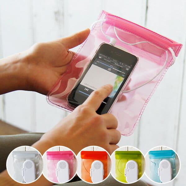(メール便)防水ケース iPhone 「ジェリーフィッシュ(M)」防水スピーカー