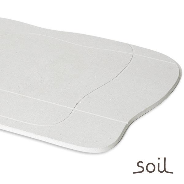 珪藻土バスマット「ソイル soil」aqua