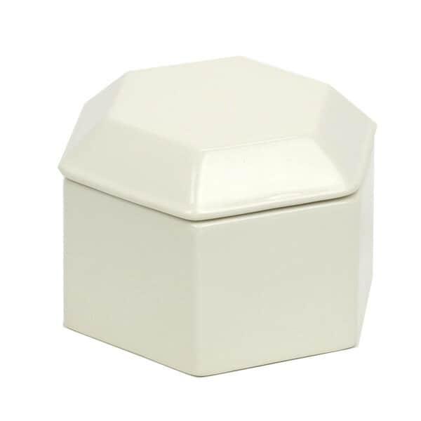 小物入れ「ハニカム」ボックス 005]【コットンボックス 陶器 サニタリー用品 小物入れ ボック