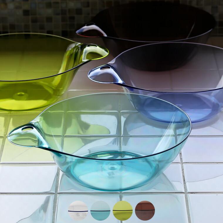 日本製 洗面器「カラリ」湯おけ・HG