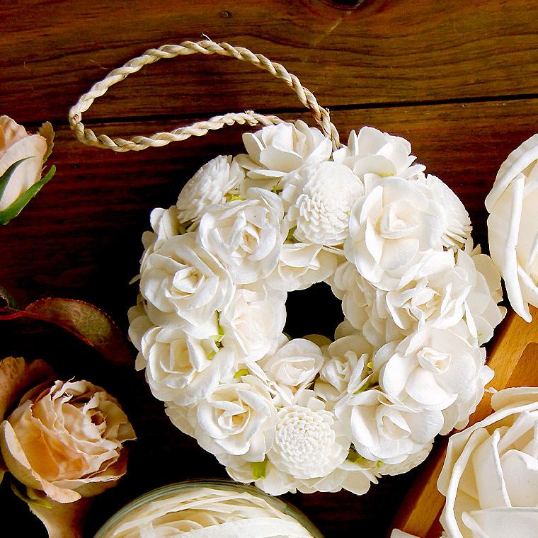 おしゃれでかわいいルームフレグランス「Sola Flower(ソラフラワー)」リース 母の日やブライダルのギフトとして