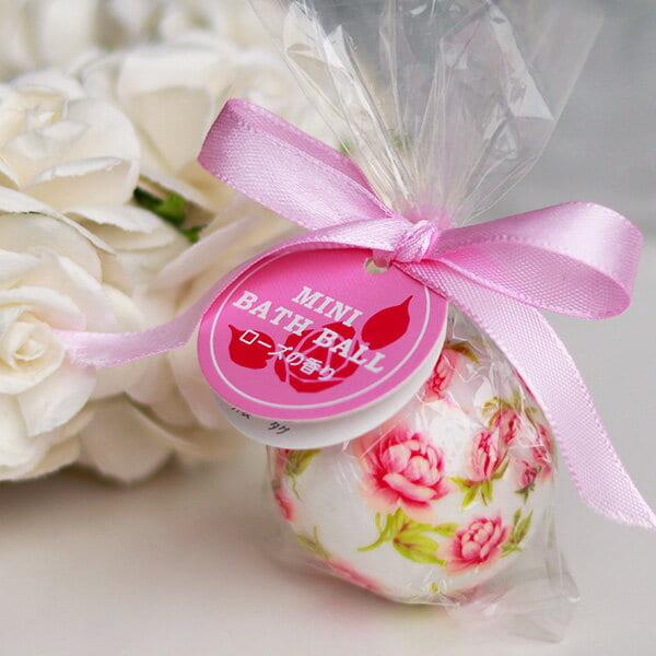 入浴剤「ミニバスボール」ローズの香り(ピンク)