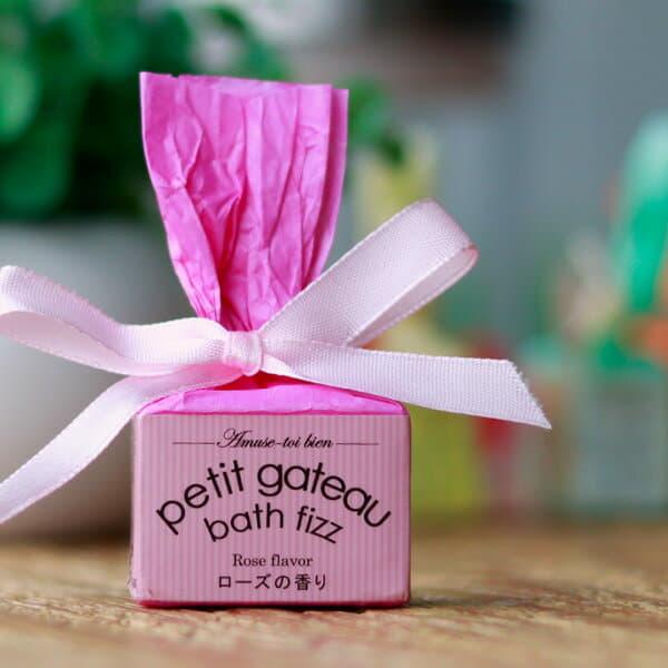 入浴剤 プチギフト「プチガトーバスフィザー」ローズの香り(ピンク)