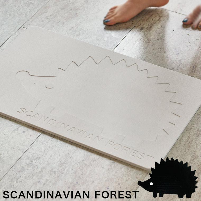 珪藻土バスマット「unbain珪藻土バスマット+」×SCANDINAVIANFOREST(スカンジナビアンフォレスト)[EF-UB08]