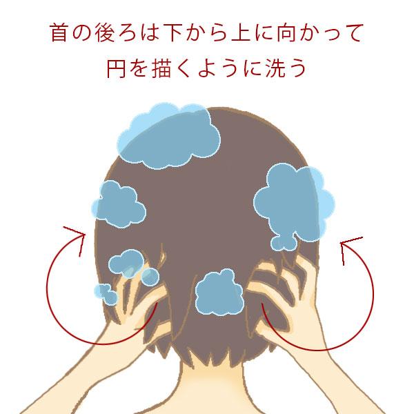 首の後ろの洗い方