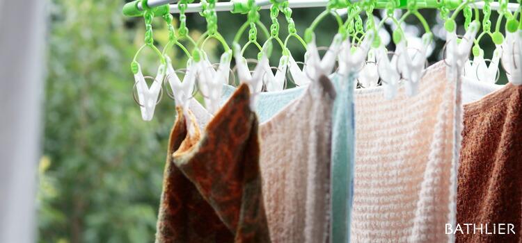 夏に向けて薄手のタオルに交換しよう。