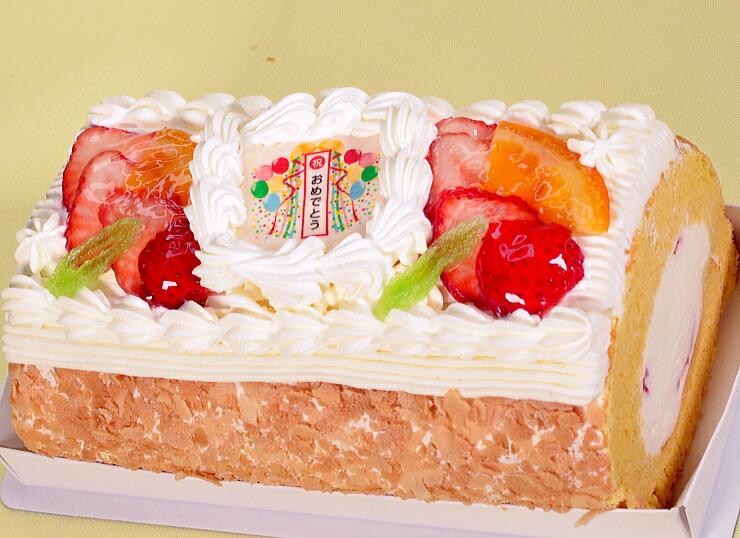 No,1(クス球のおめでとう苺イチゴと生クリームのロールケーキ