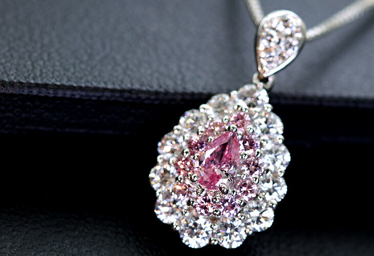 pink global necklace intense fancy jewelry natural diamond heart shaped
