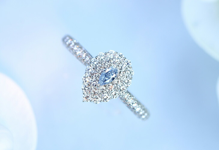 PINK&BLUE diamond ring