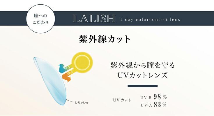 紫外線UVカットで瞳を守るカラコンレリッシュ1day