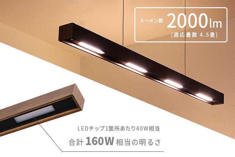 LED バー ペンダントライト レウッド