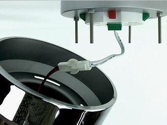 ワンタッチアダプターで簡単に取り付けすることができます