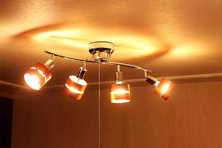 広配光タイプだから天井へもしっかりと灯りが回ります