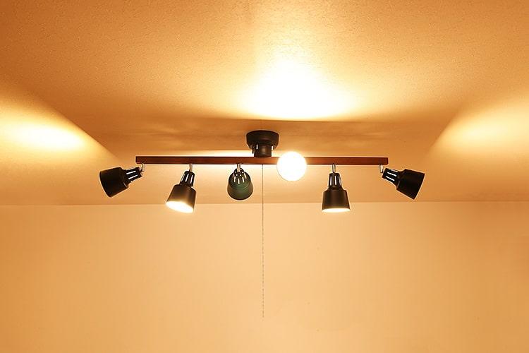 シーリングライト 6灯 ライトリー プルスイッチ付