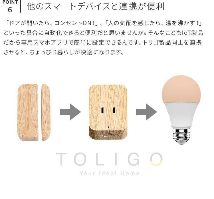 TOLIGO トリゴ コンセント1口