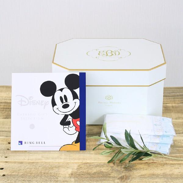出産祝いギフト カタログギフト (ディズニー 4600円コース)+ おむつセット 送料無料